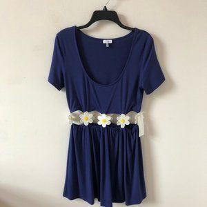 Tobi Blue Floral Cutout Dress- Size M
